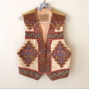 Hairston Roberson Cross Western Embroidered Vest